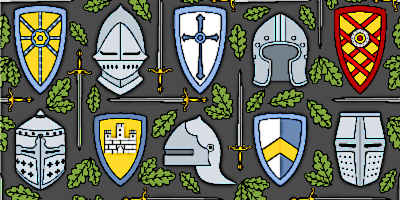Collection of medieval Knights Shields