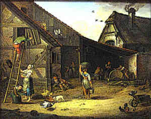 Life in medieval village peasants