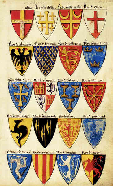 Medieval Shields Heraldry The Segars Roll Picture